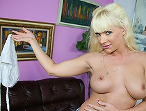 Blonde cougar goes nuts with pov interracial sex