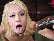 Neglected white girl gets big, black cock in a home movie