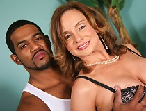 Rebecca Bardoux gets a black cock lodged in her gaping ass